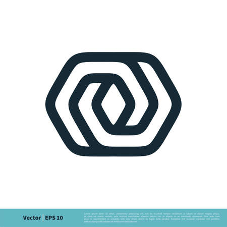 Line Art Hexagon Infinity Icon Vector Logo Template Illustration Design. Vector EPS 10.  イラスト・ベクター素材