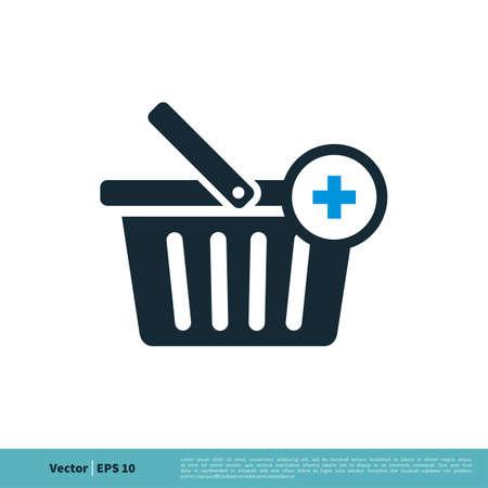 Basket Cart Shopping, e-Commerce Icon Vector Logo Template Illustration Design. Vector EPS 10.