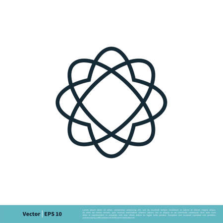 Atom Nuclear Icon Vector Logo Template Illustration Design. Vector EPS 10.