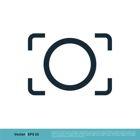 Camera Focus Icon Vector Logo Template Illustration Design. Vector EPS 10.