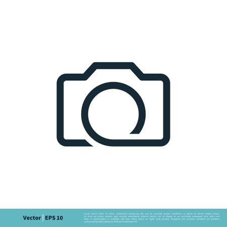 Camera Line Art Icon Vector Logo Template Illustration Design. Vector EPS 10. 일러스트
