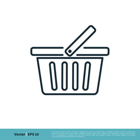Basket Store Icon Vector Logo Template Illustration Design. Vector EPS 10.