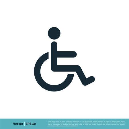 Handicap / Disability Icon Vector Logo Template Illustration Design. Vector EPS 10.