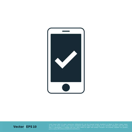 Smartphone Fixed Icon Vector Logo Template Illustration Design. Vector EPS 10.
