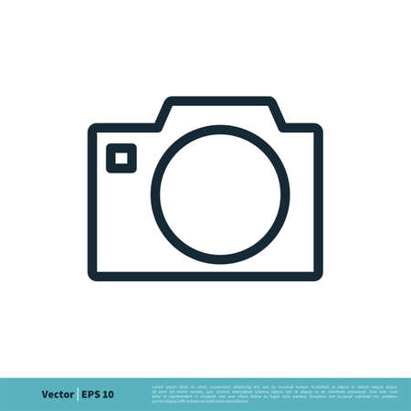 Photo Camera Icon Vector Logo Template Illustration Design. Vector EPS 10. 일러스트