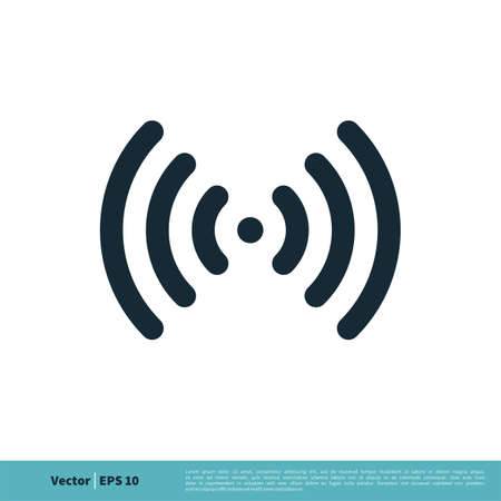 Signal Wi-Fi Icon Vector Logo Template Illustration Design. Vector EPS 10.