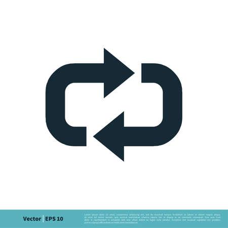 Arrow Chain Icon Vector Logo Template Illustration Design. Vector EPS 10. Logos
