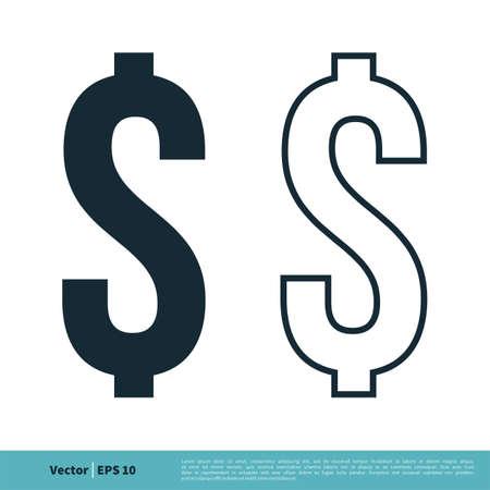 Dollar Icon Vector Logo Template. Money Sign Illustration Design. Vector EPS 10.