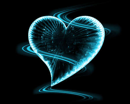 frozen heart in the dark photo