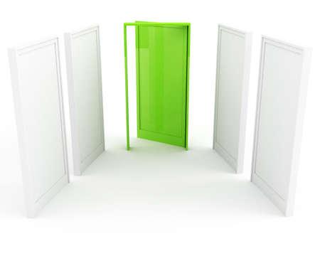 puerta verde: Green puerta del �xito  Foto de archivo