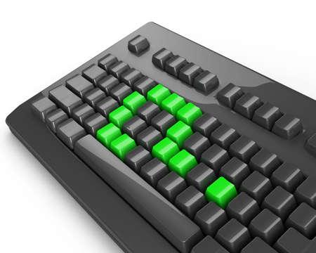 green keyboard question Stock Photo - 3429358
