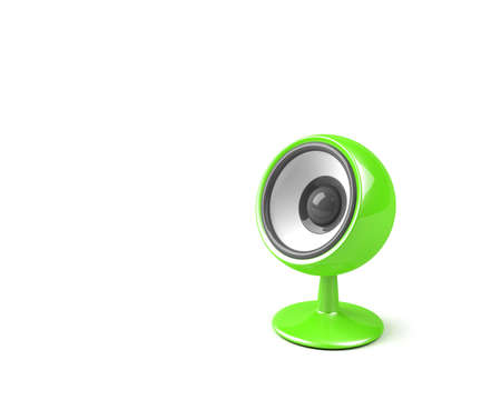sonorous: bright green speaker on pedestal
