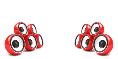 sonorous: red stylish stereo system
