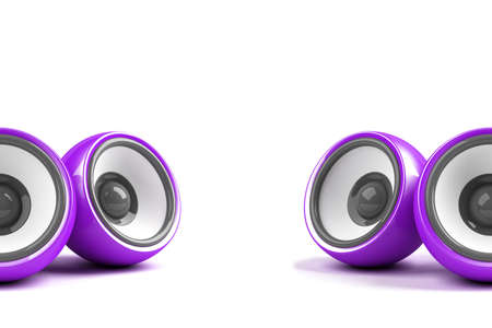 sonorous: violet stylish stereo system