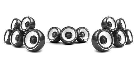black high-power audio system