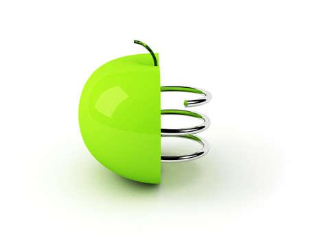 factitious: artificial apple concept