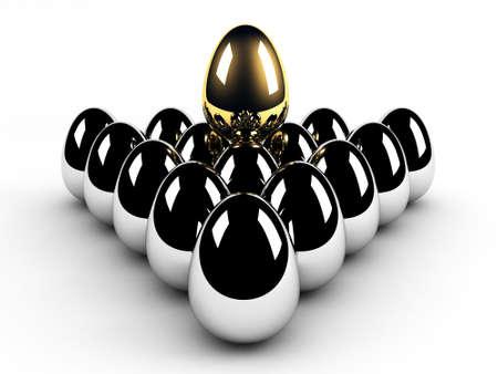 golden egg leadership concept Stock Photo