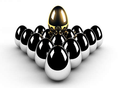 golden egg leadership concept photo
