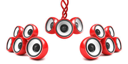 red stylish modern audio system Stock Photo - 4736176