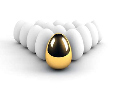 unique egg leadership concept