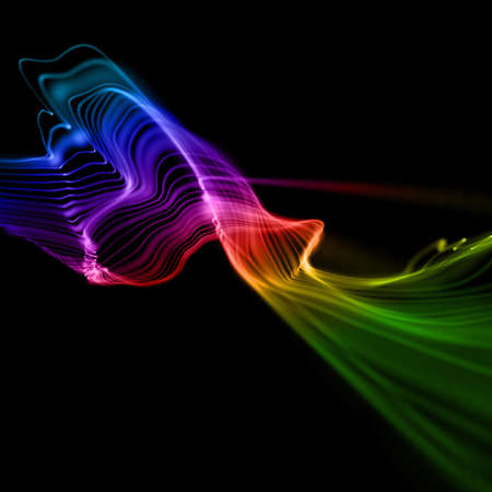 colorful smooth linear waves background