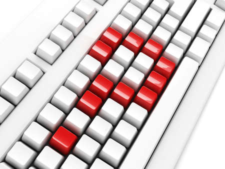 keyboard with question-mark concept Stock Photo - 5803288