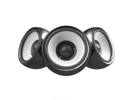 sonorous: black audio system isolated