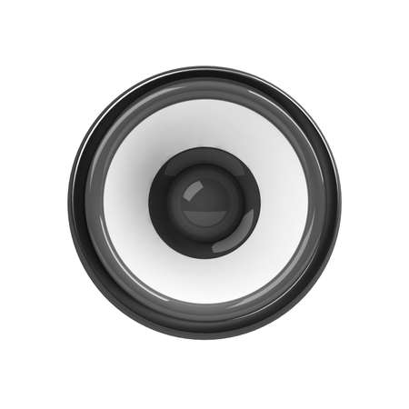 sonorous: black loudspeaker isolated over white