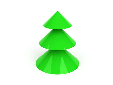 simple christmas tree toy Stock Photo - 6061460