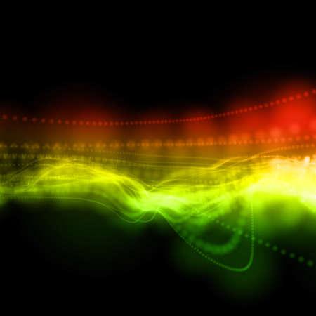 perspectiva lineal: Fondo lineal multicolor ondulado abstracta en perspectiva Foto de archivo