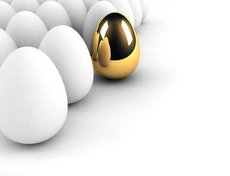 gouden eieren concept van de massa