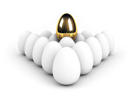 unique egg above the crowd leadership concept Stock Photo - 6696115