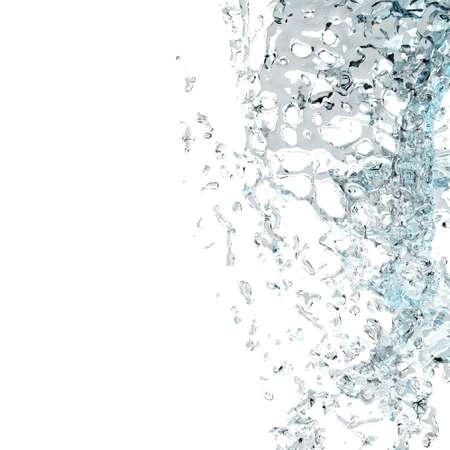procesamiento 3D de agua caída  Foto de archivo - 6870597