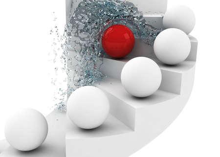hard way: hard way to success leadership concept