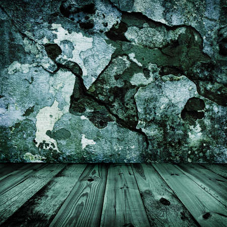 old grunge stylish wall and wooden floor in a room Stock Photo - 7572563