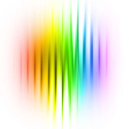multicolored linear abstraction over white photo