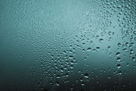 waterdrops on the glass texture Stock Photo