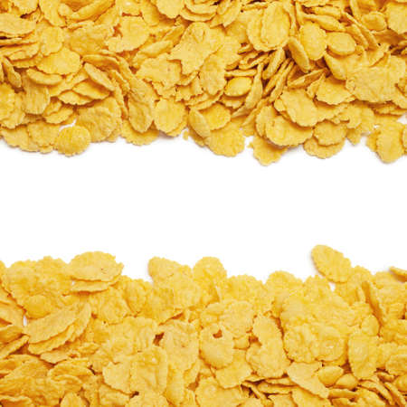 cornflakes background with copy space in the centre photo