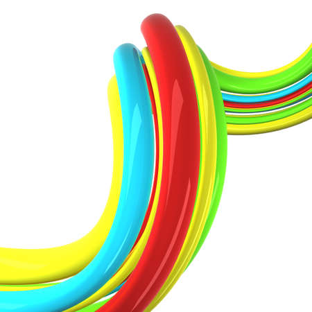 green red yellow blue cables background photo