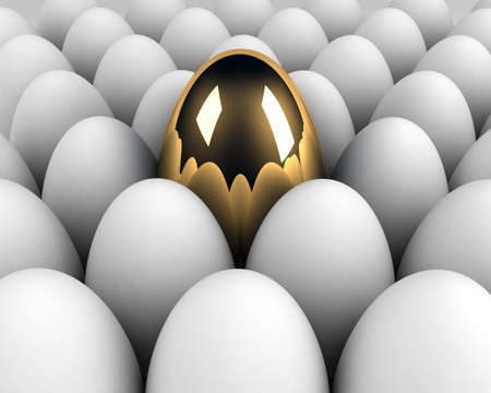 unique egg in the crowd concept Stock Photo - 8712975