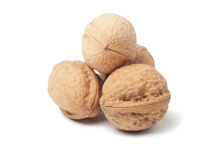 circassian: Circassian walnut isolated over white background Stock Photo