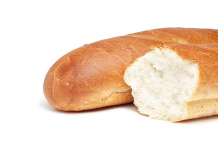 loafs of bread isolated over white background