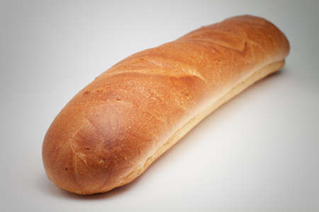 loaf of bread on the grey background photo
