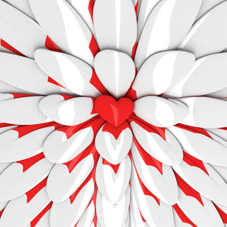 abstract background with red heart in the centre Stock Photo - 11782844