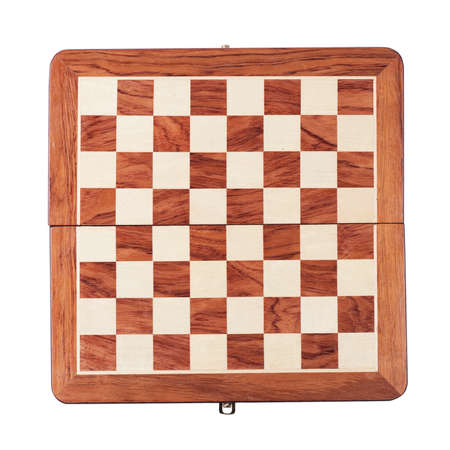 chessboard isolated over white background photo