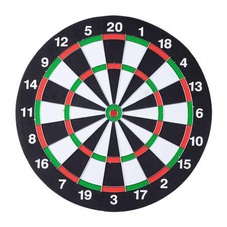 dartboard isolated over white background photo