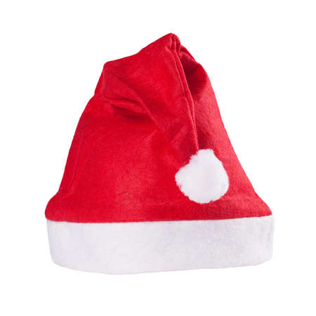 red santas cap isolated over white background Stock Photo - 11782826