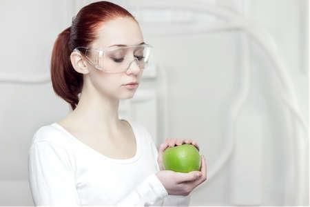 female scientist in the futuristic laboratory Stock Photo - 17482524