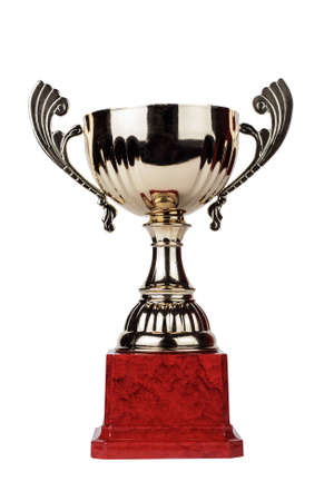 trophy cup: trophy cup isolated on the white background