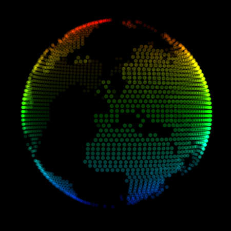 colorful stylized planet Earth over black background Stock Photo - 22815790